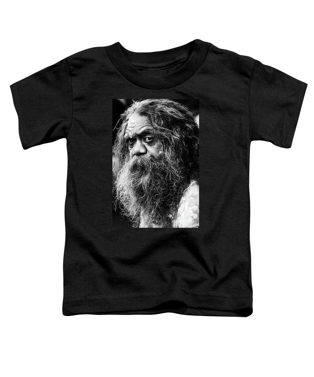 Aborigine Aboriginal Australian Toddler T-Shirt featuring the photograph Portrait Of An Australian Aborigine by Sheila Smart Fine Art Photography