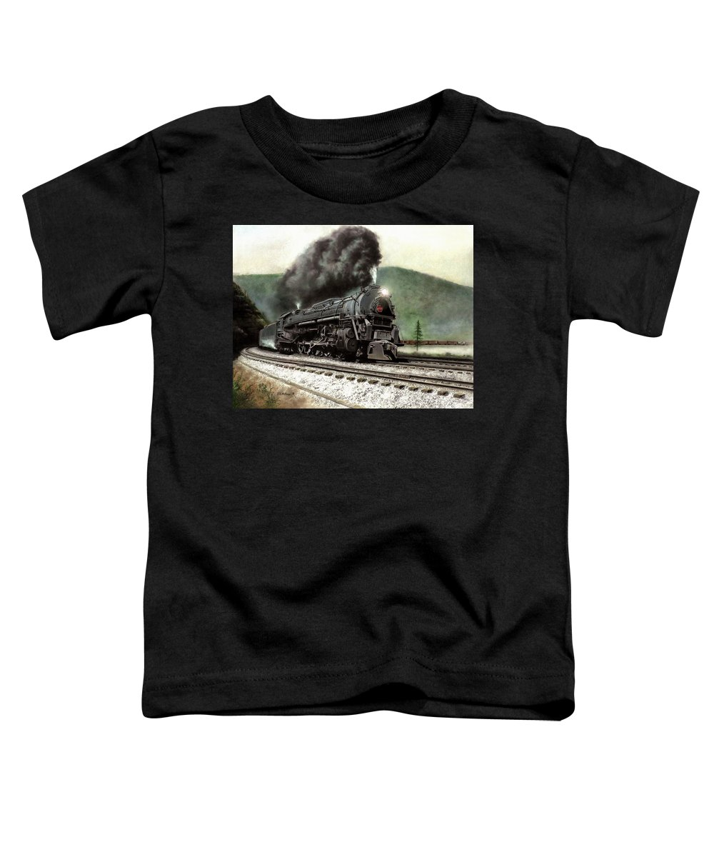 Toddler T-Shirt featuring the painting Power On The Curve by David Mittner