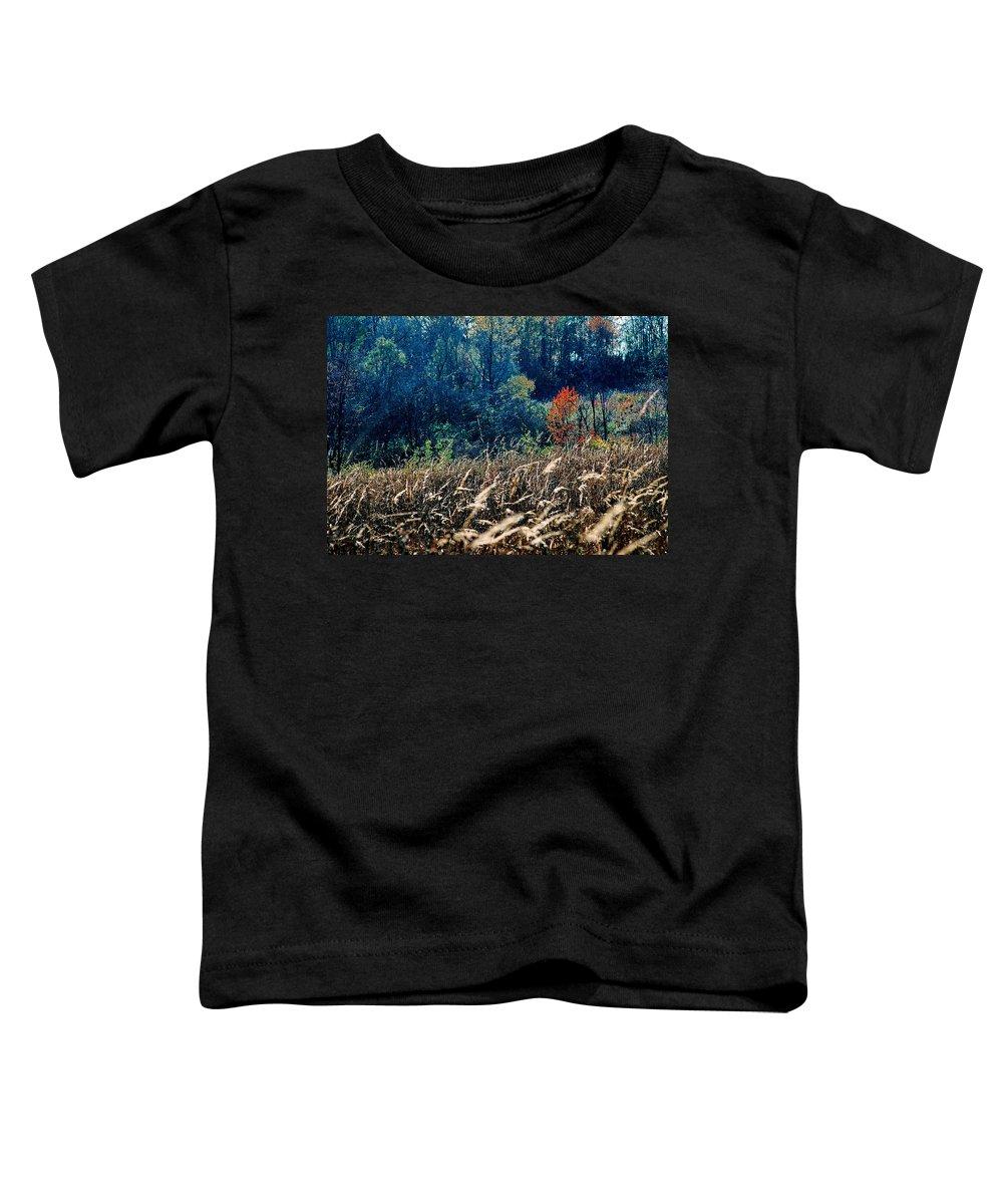Landscape Toddler T-Shirt featuring the photograph Prairie Edge by Steve Karol