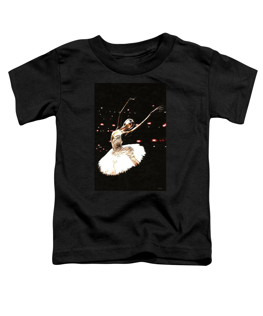 Prima Ballerina Toddler T-Shirt featuring the painting Prima Ballerina by Richard Young