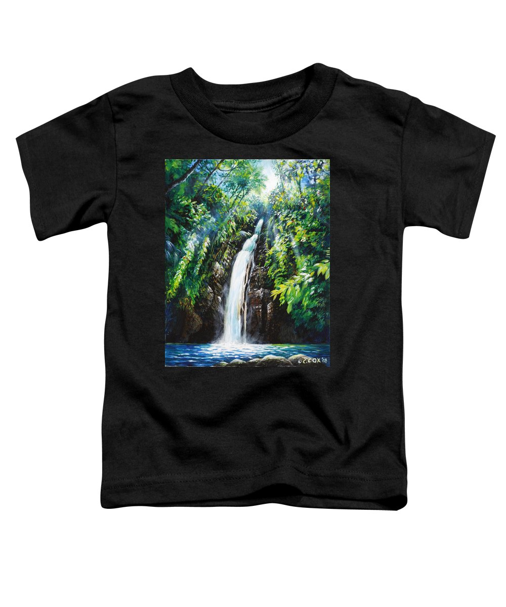 Chris Cox Toddler T-Shirt featuring the painting Pristine by Christopher Cox