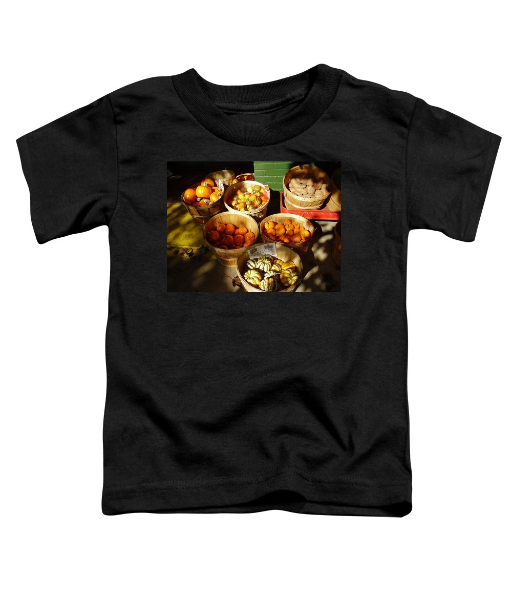 Pumpkins Toddler T-Shirt featuring the photograph Pumpkins by Flavia Westerwelle