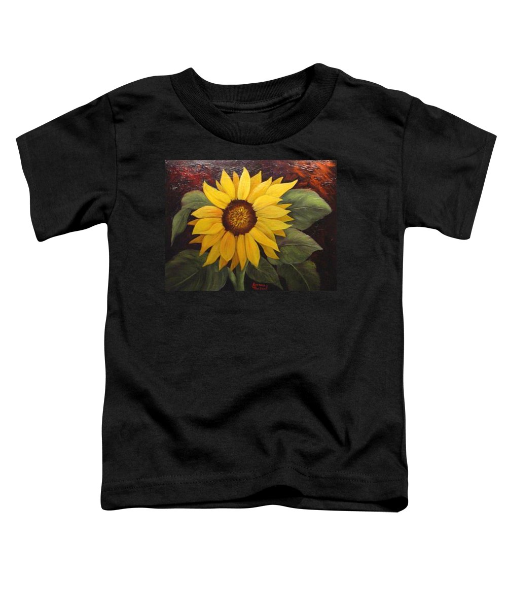Still Life Toddler T-Shirt featuring the painting Pure Sunshine Sold by Susan Dehlinger