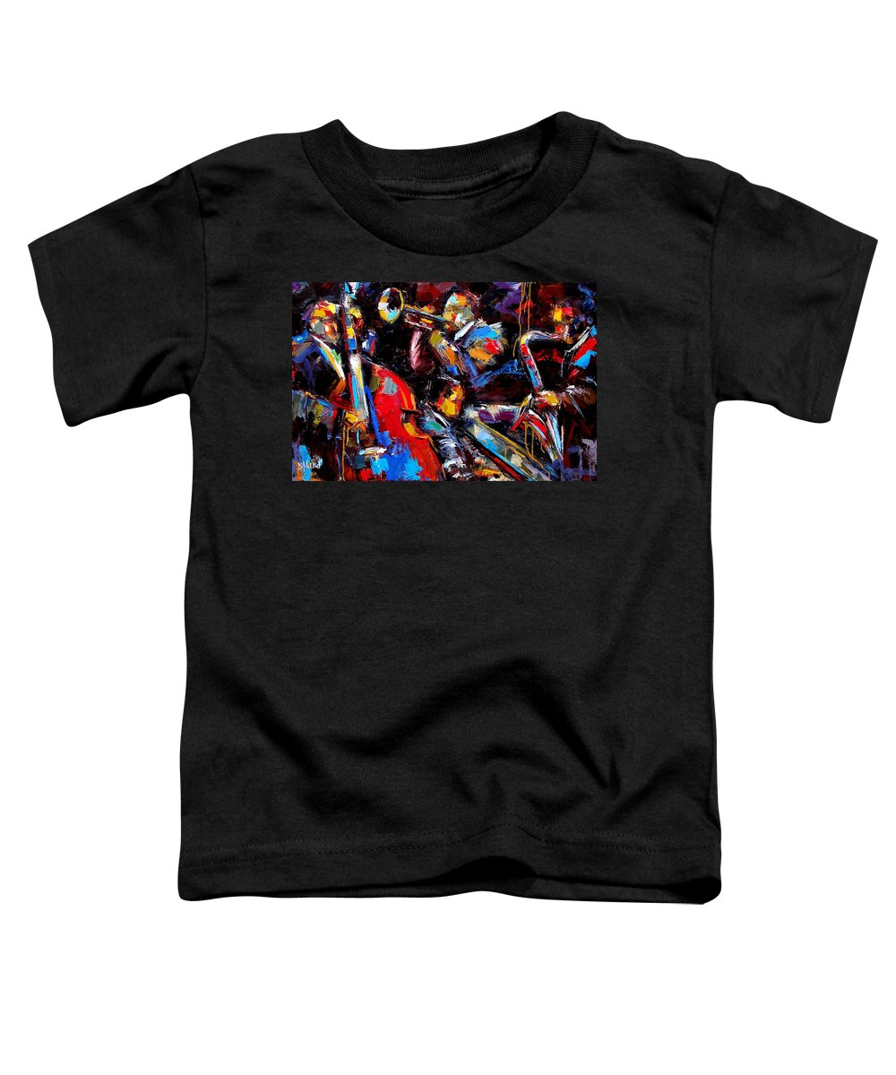 Jazz Paintings Toddler T-Shirt featuring the painting Quartet by Debra Hurd