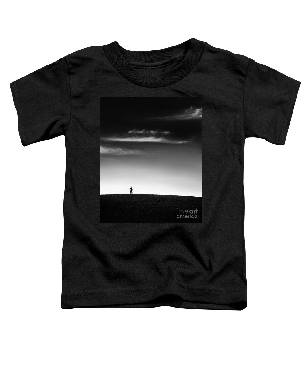 Boy Toddler T-Shirt featuring the photograph Racing The Wind by Dana DiPasquale