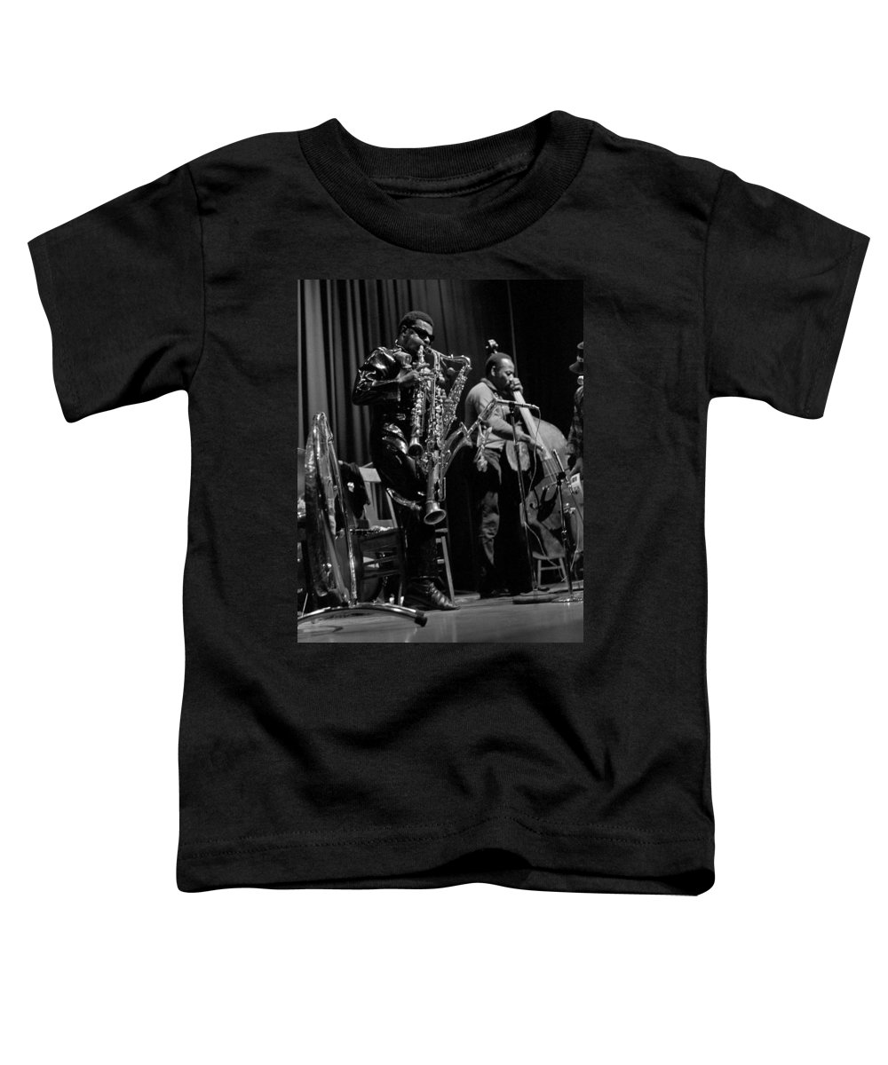 Rahsaan Roland Kirk Toddler T-Shirt featuring the photograph Rahsaan Roland Kirk 1 by Lee Santa