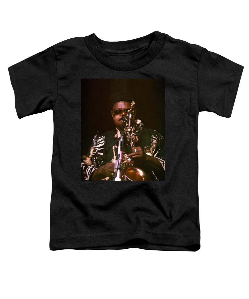 Rahsaan Roland Kirk Toddler T-Shirt featuring the photograph Rahsaan Roland Kirk 3 by Lee Santa