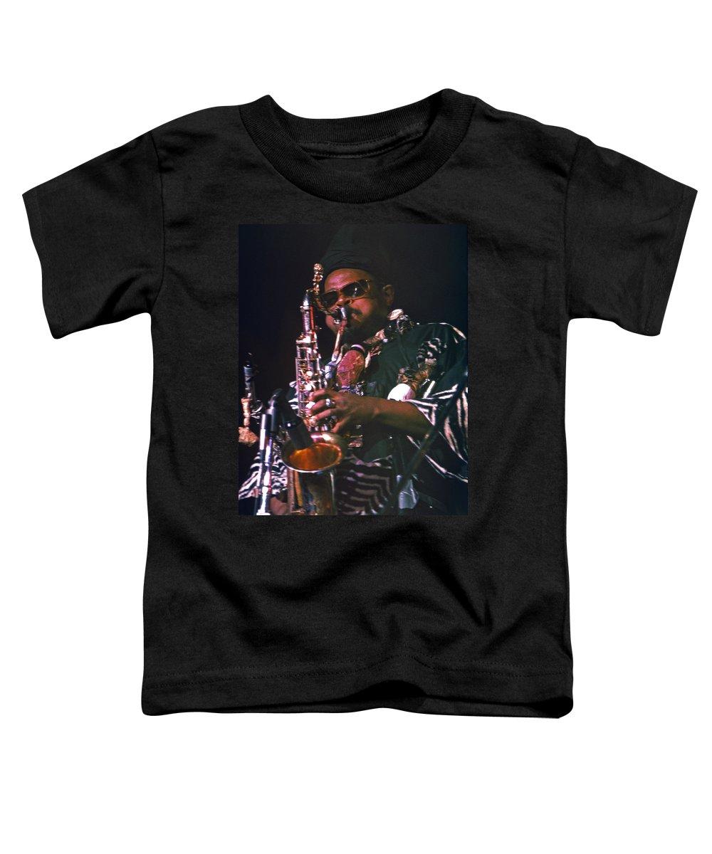 Rahsaan Roland Kirk Toddler T-Shirt featuring the photograph Rahsaan Roland Kirk 4 by Lee Santa