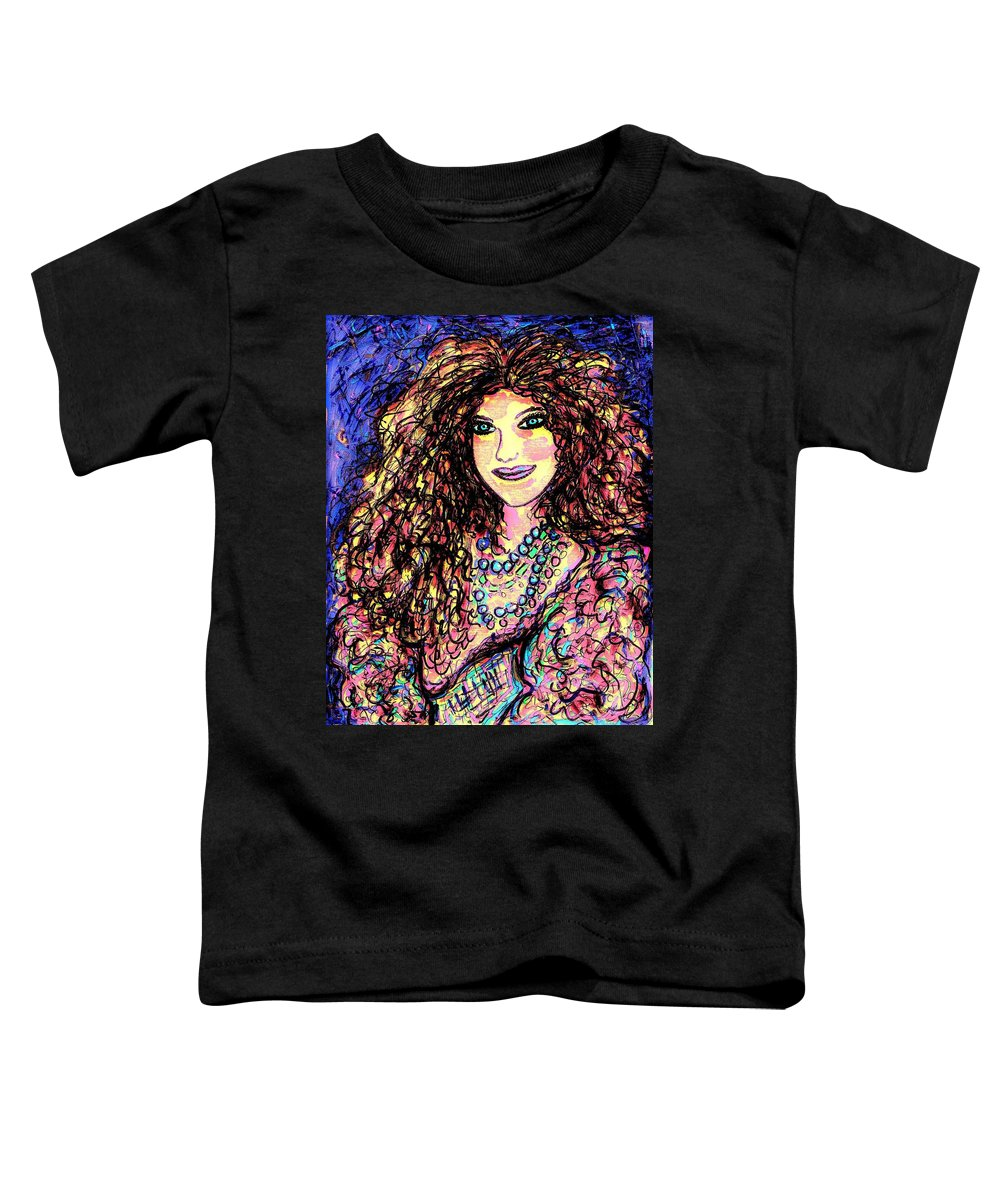 Woman Toddler T-Shirt featuring the painting Ravishing Beauty by Natalie Holland