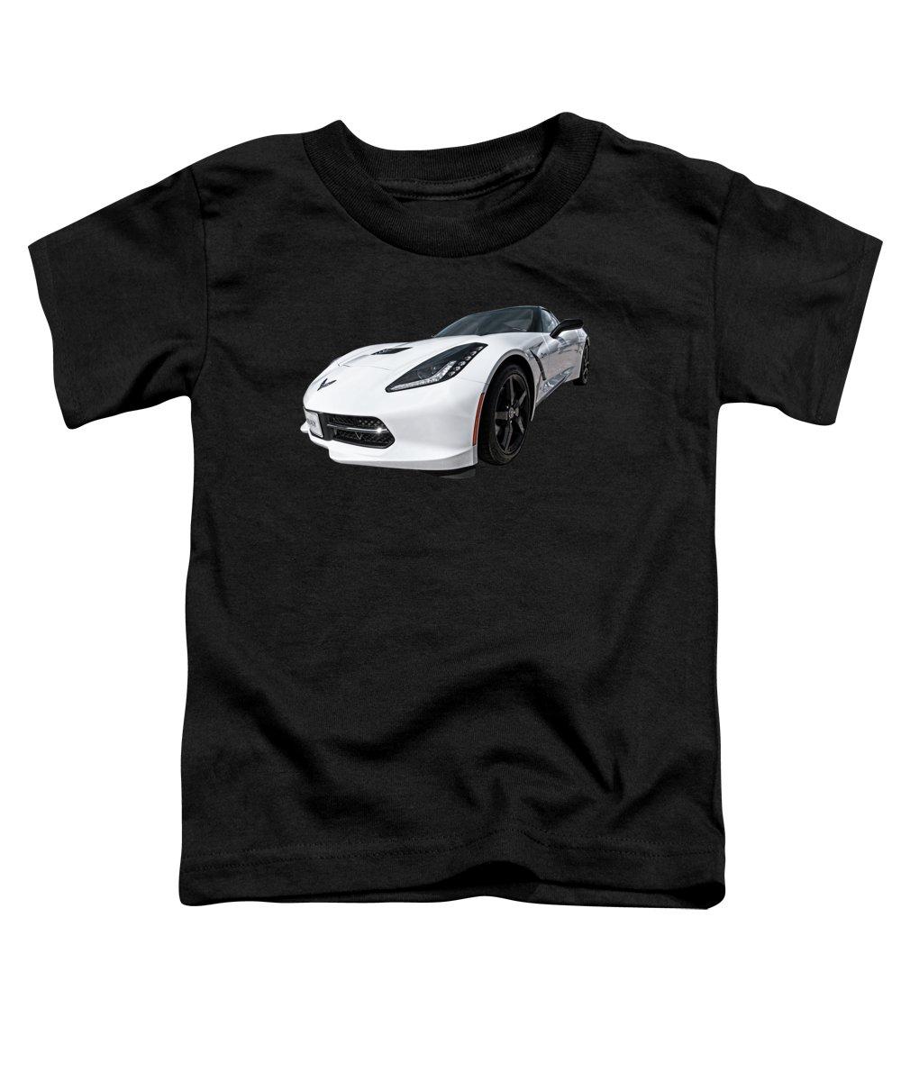 Corvette Stingray Toddler T-Shirt featuring the photograph Ray Of Light - Corvette Stingray by Gill Billington