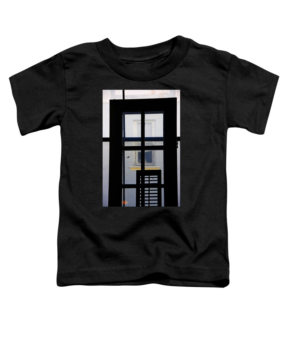 Architecture Toddler T-Shirt featuring the photograph Rear Window 2 by Skip Hunt