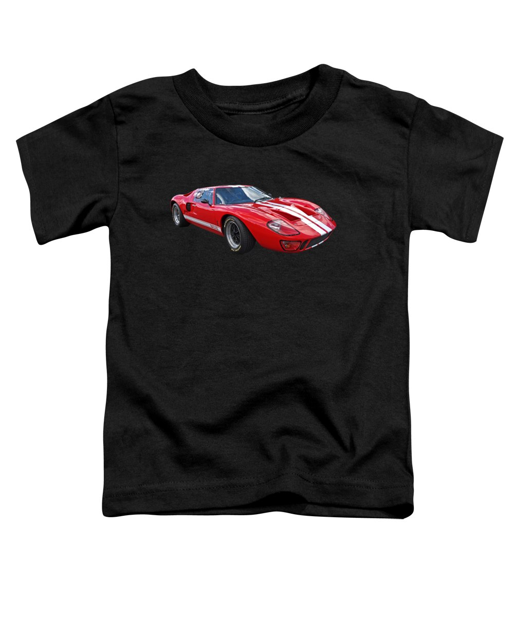Ford Gt40 Toddler T-Shirt featuring the photograph Red Carpet Ford by Gill Billington