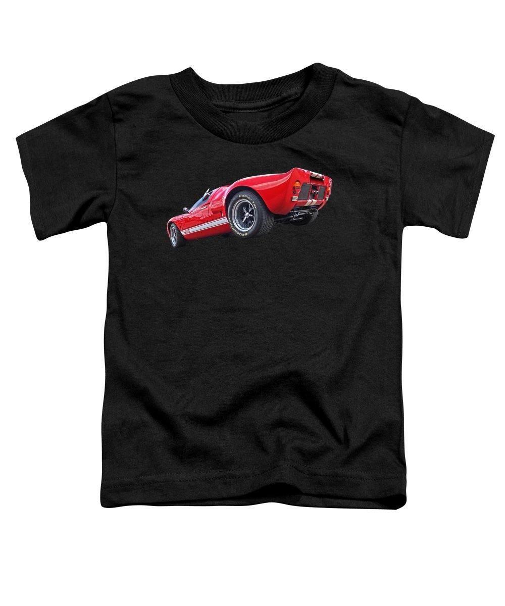 Ford Gt40 Toddler T-Shirt featuring the photograph Red Hot Ford Gt 40 by Gill Billington