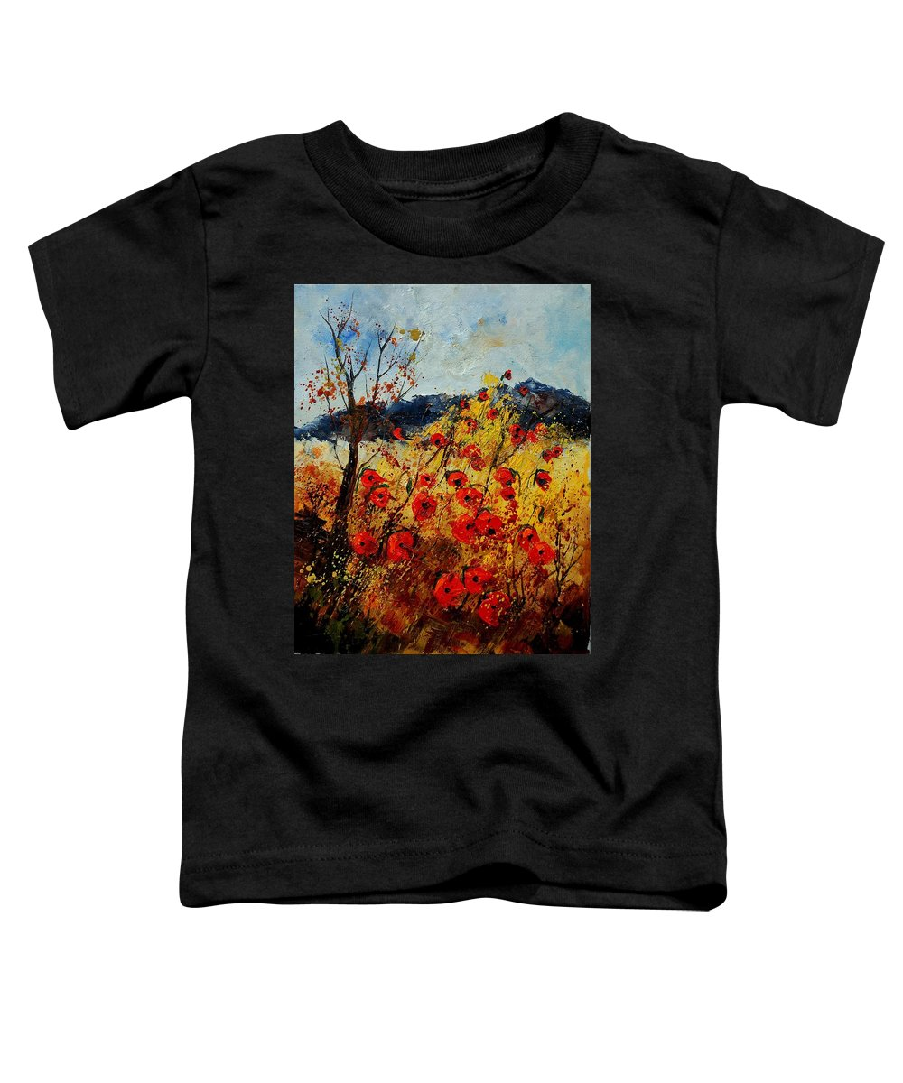 Poppies Toddler T-Shirt featuring the painting Red Poppies In Provence by Pol Ledent