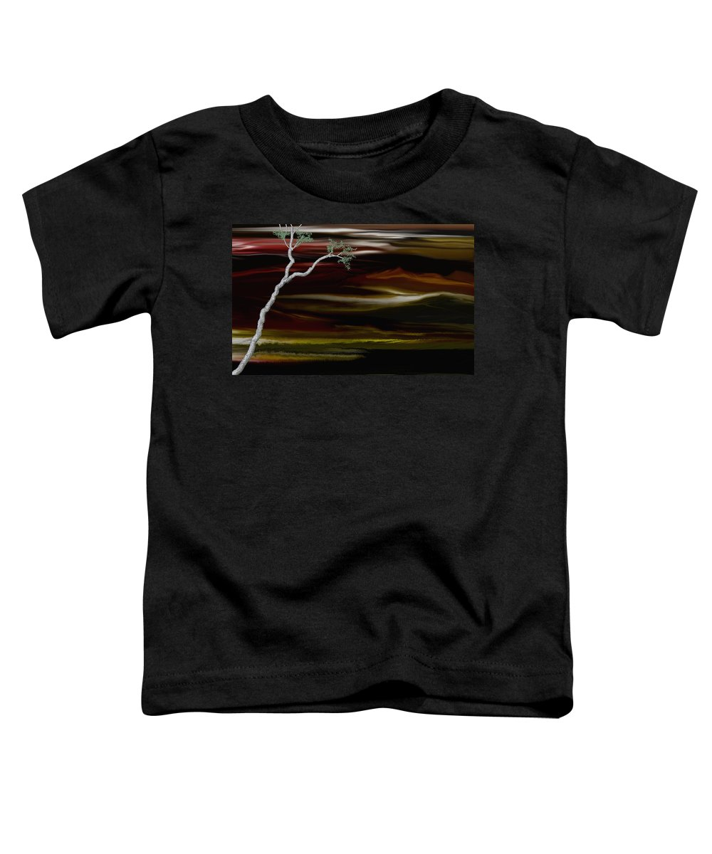 Digital Landscape Toddler T-Shirt featuring the digital art Redscape by David Lane