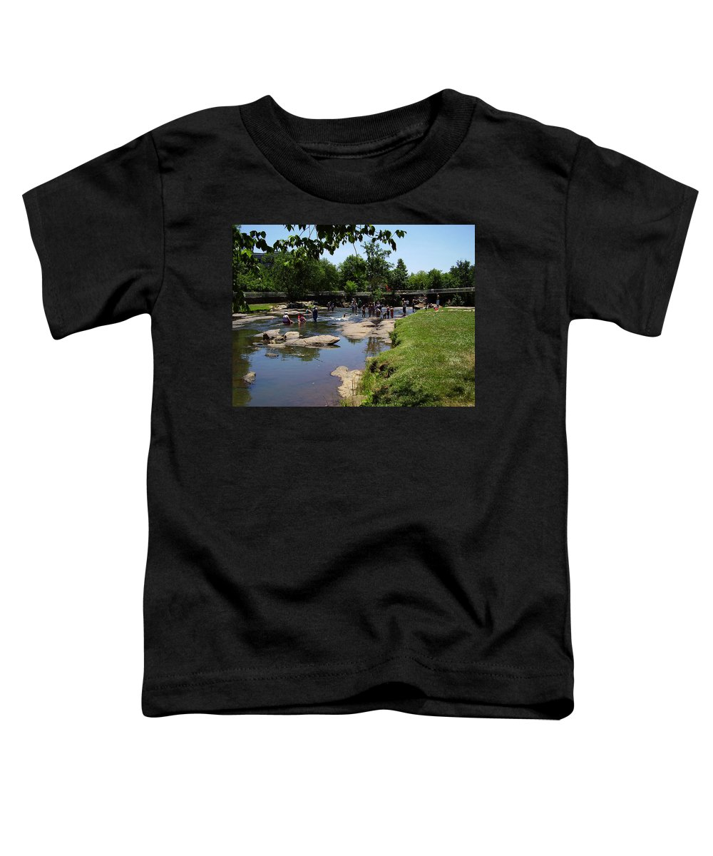 Reedy River Toddler T-Shirt featuring the photograph Reedy River by Flavia Westerwelle
