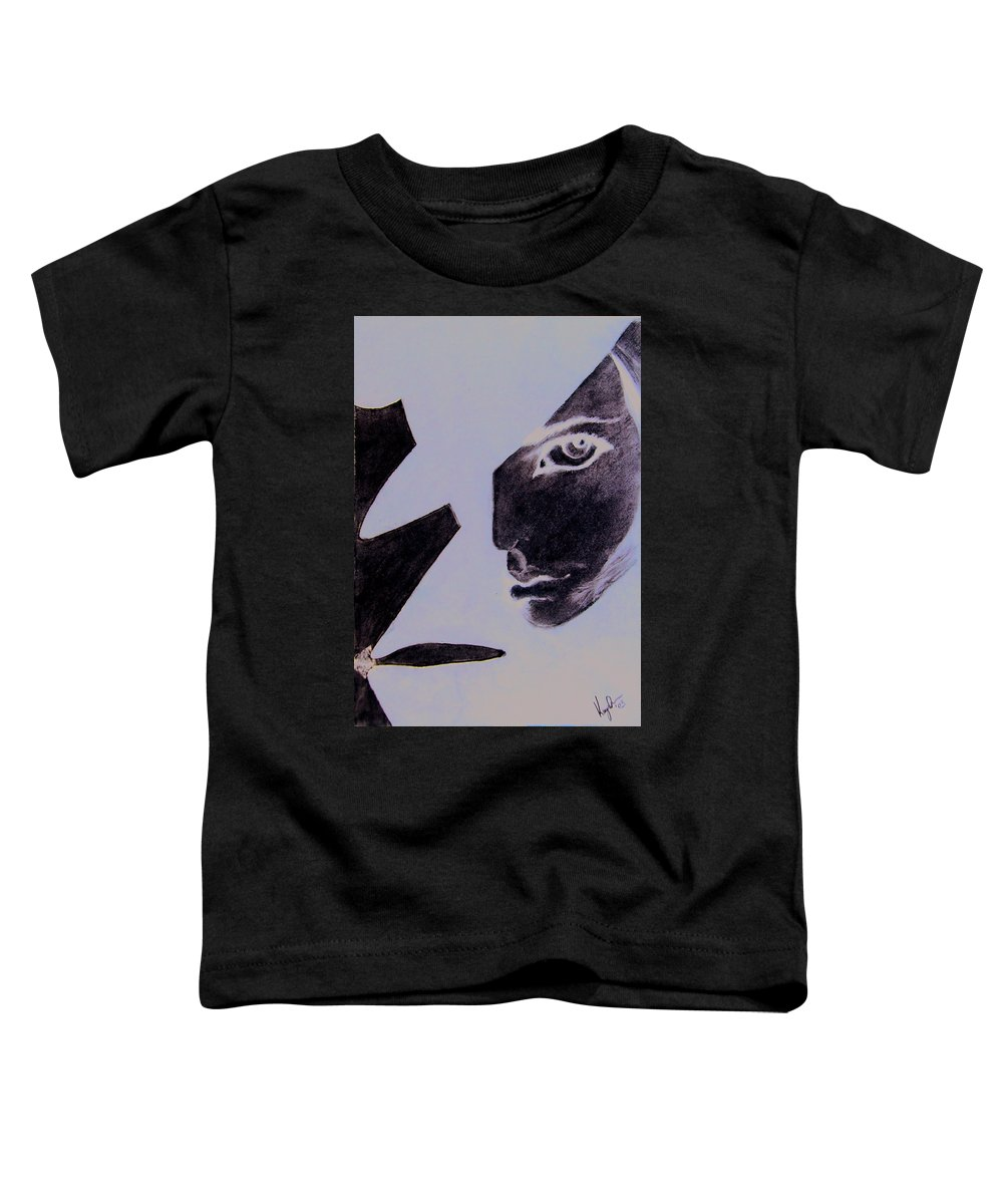 Black Toddler T-Shirt featuring the pastel Revenge by Kayon Cox
