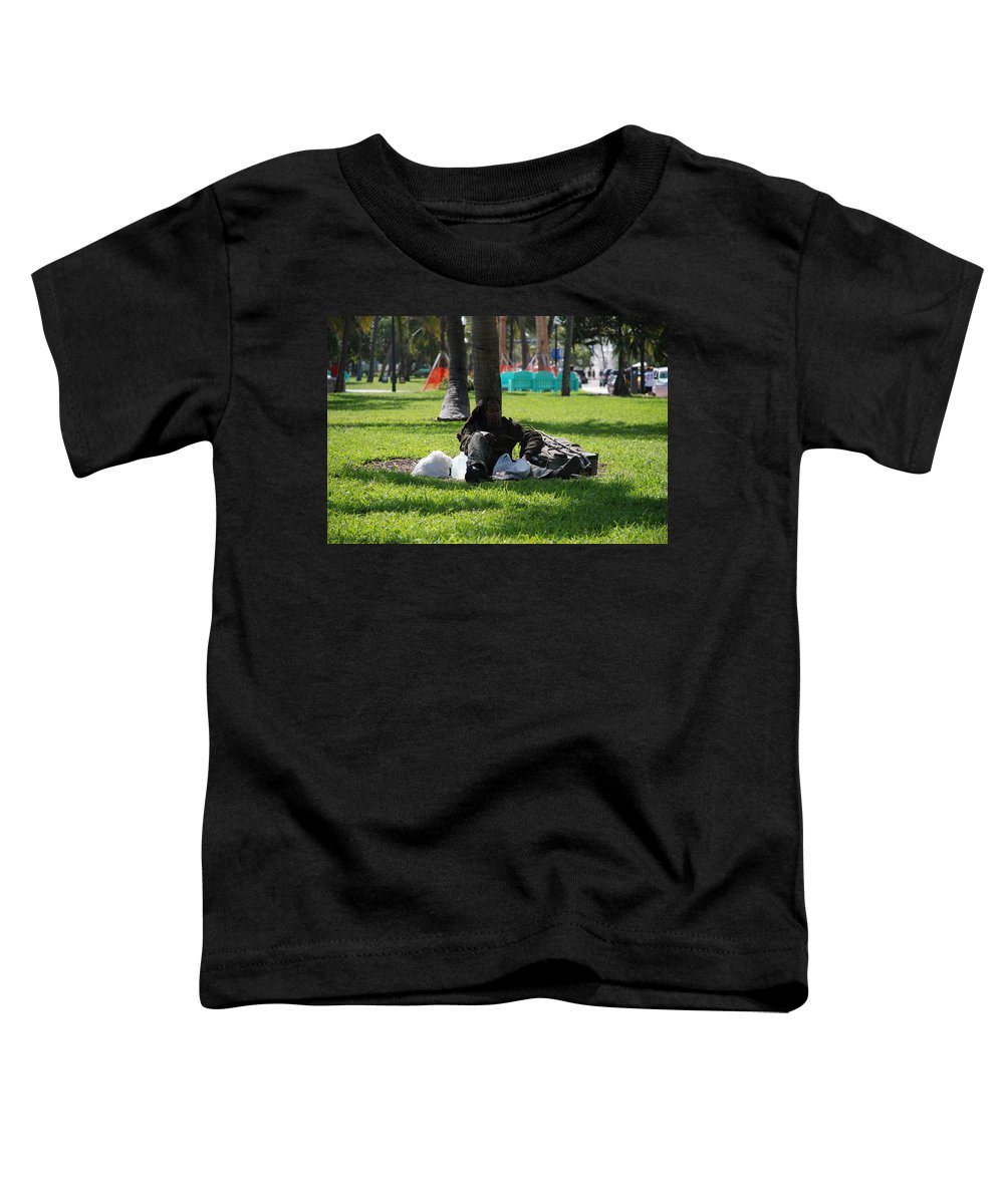 Urban Toddler T-Shirt featuring the photograph Rip Van Winkle by Rob Hans