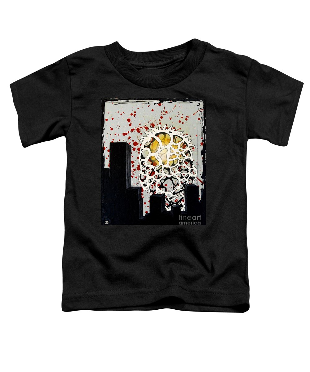 Energy Toddler T-Shirt featuring the painting Rise by A 2 H D