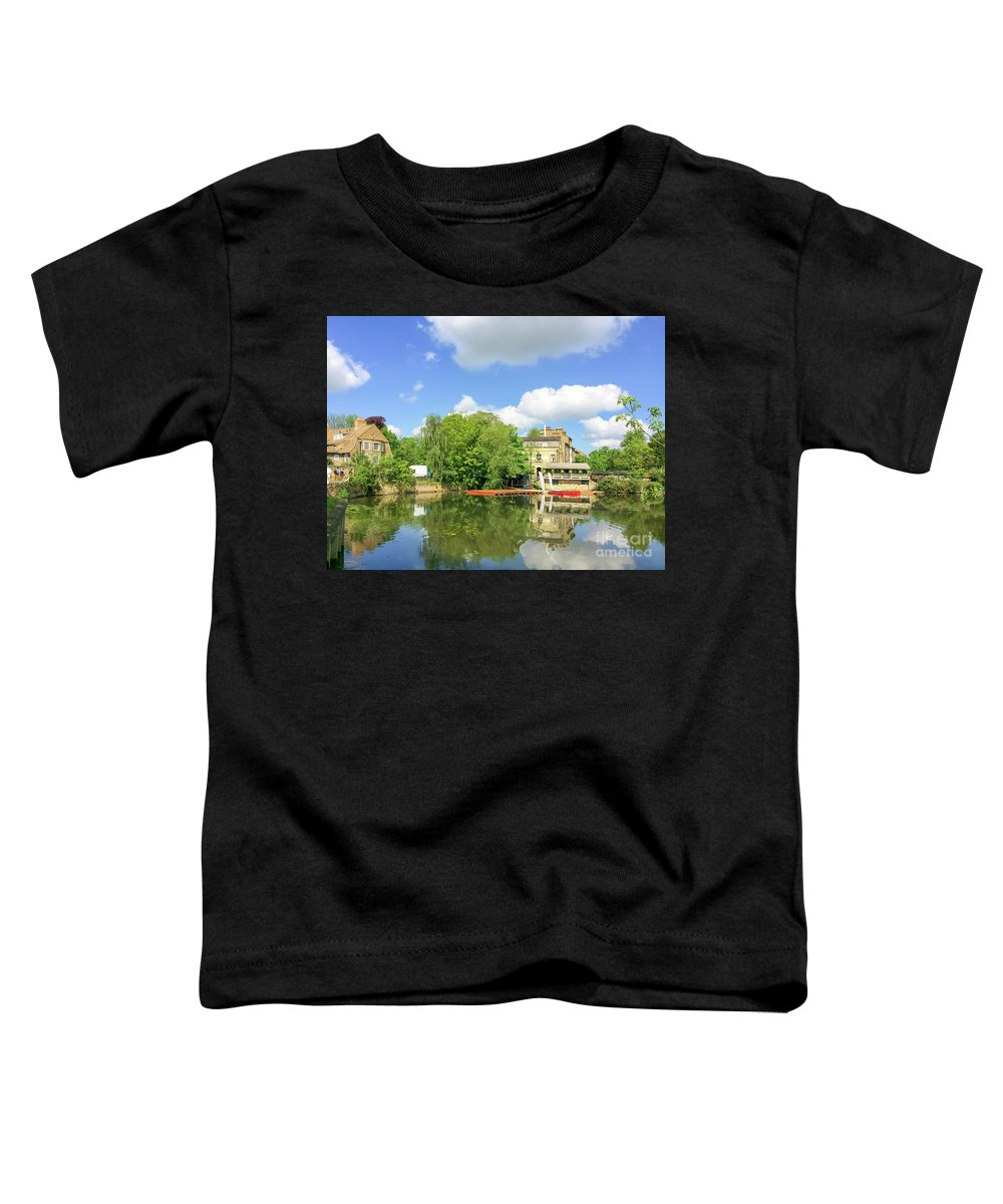 Cambridge Toddler T-Shirt featuring the photograph River Cam by Delphimages Photo Creations