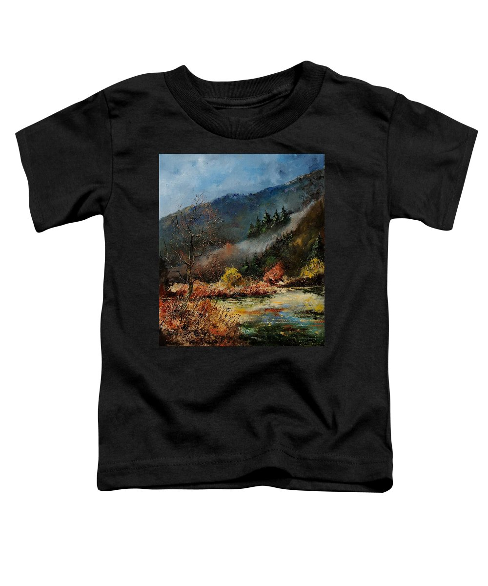 River Toddler T-Shirt featuring the painting River Semois by Pol Ledent