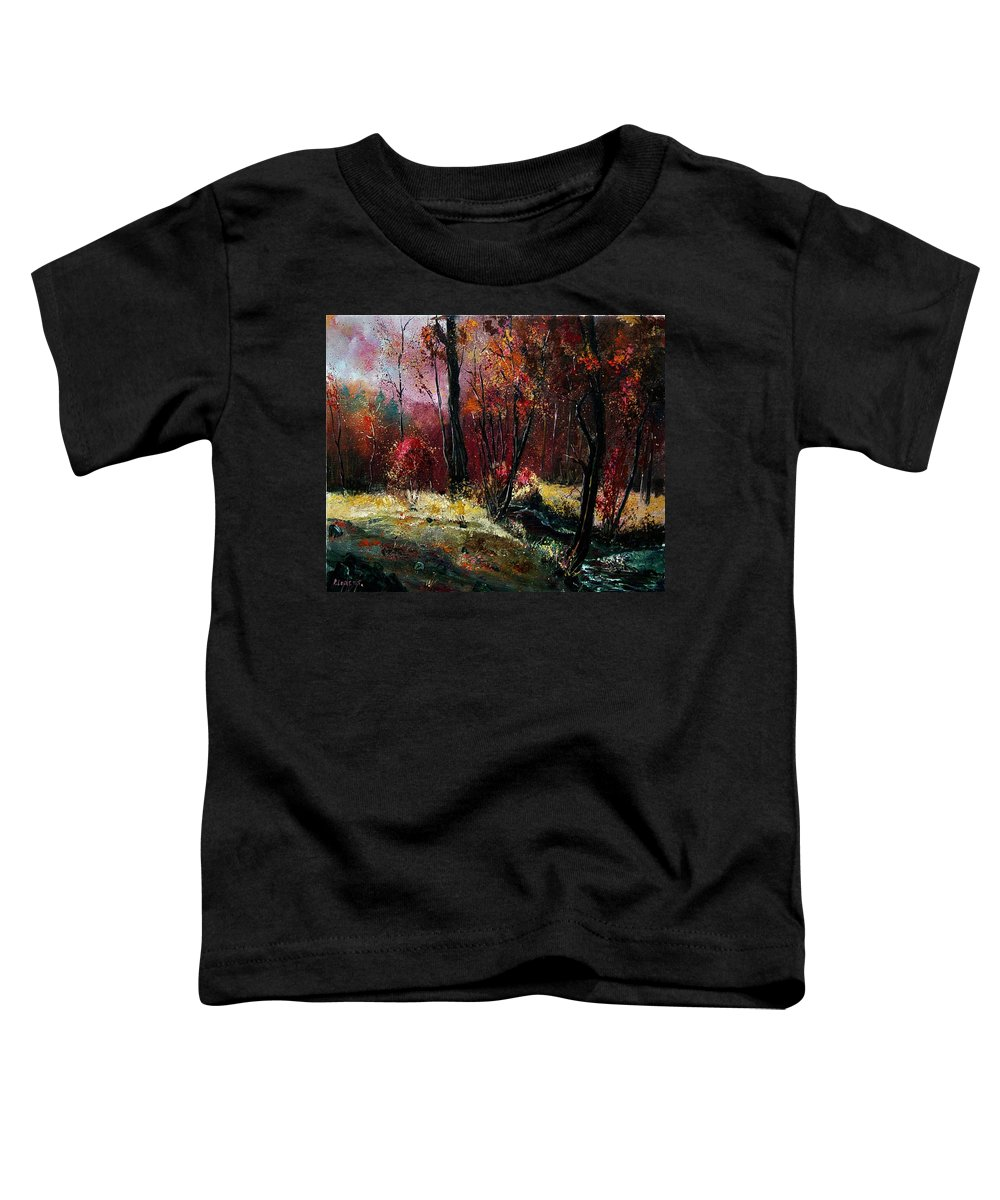 River Toddler T-Shirt featuring the painting River Ywoigne by Pol Ledent