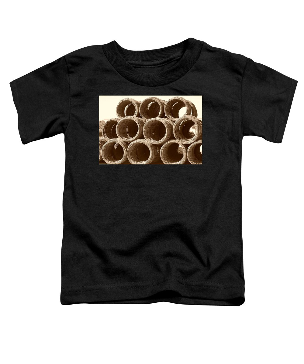 Metal Toddler T-Shirt featuring the photograph Rolled Steele by Rob Hans