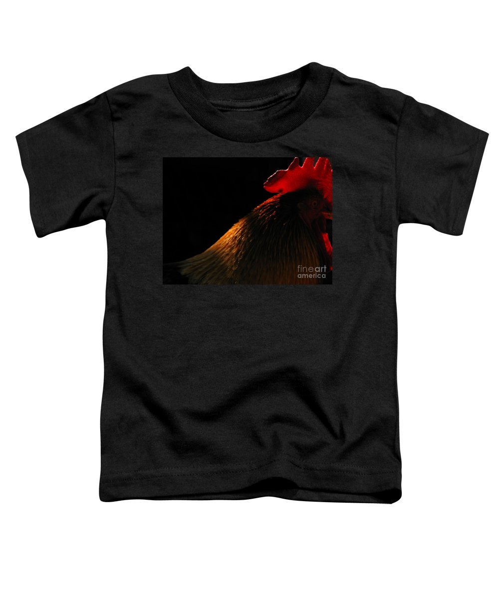 Rooster Toddler T-Shirt featuring the photograph Rooster by Amanda Barcon
