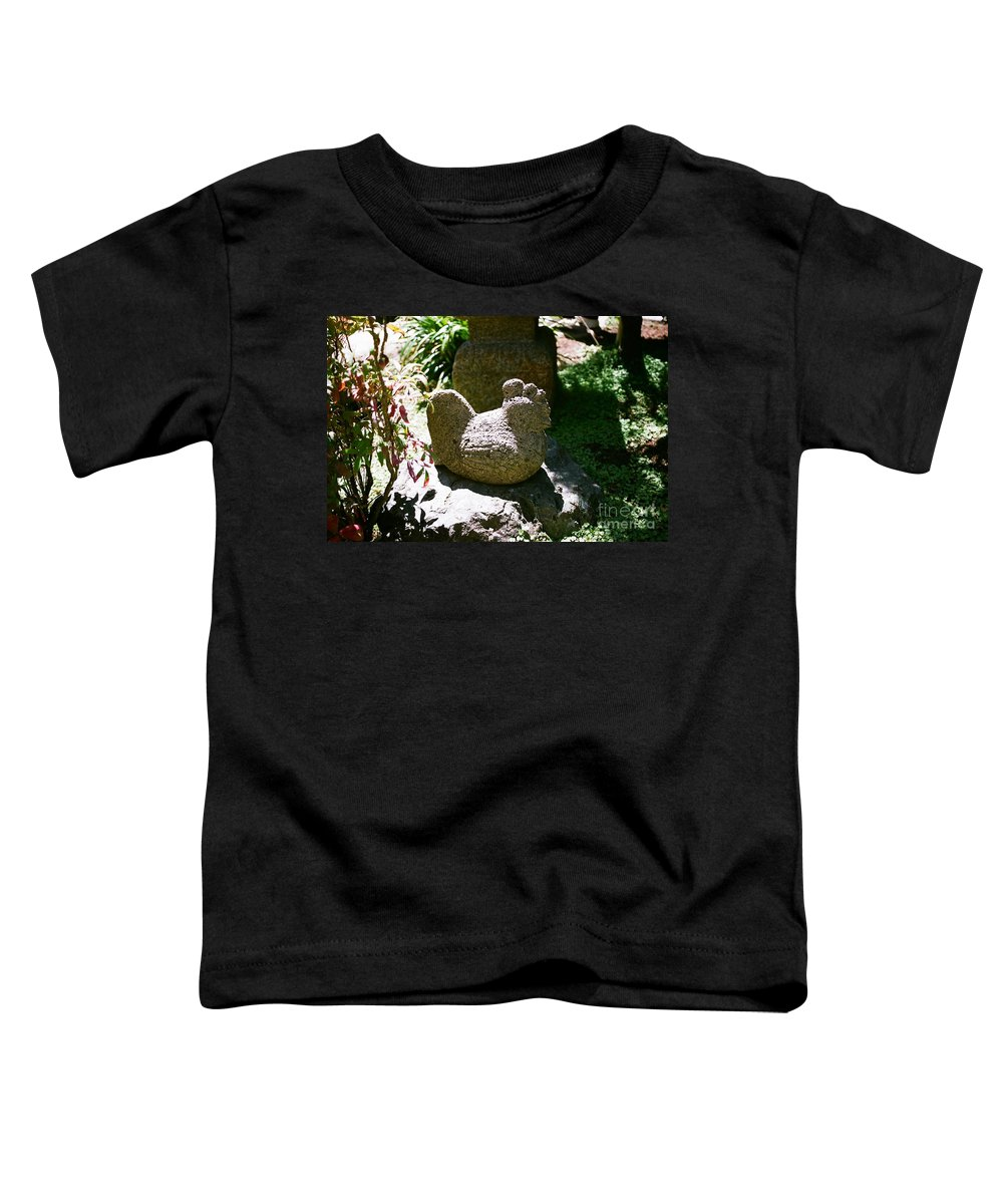 Stone Toddler T-Shirt featuring the photograph Rooster by Dean Triolo