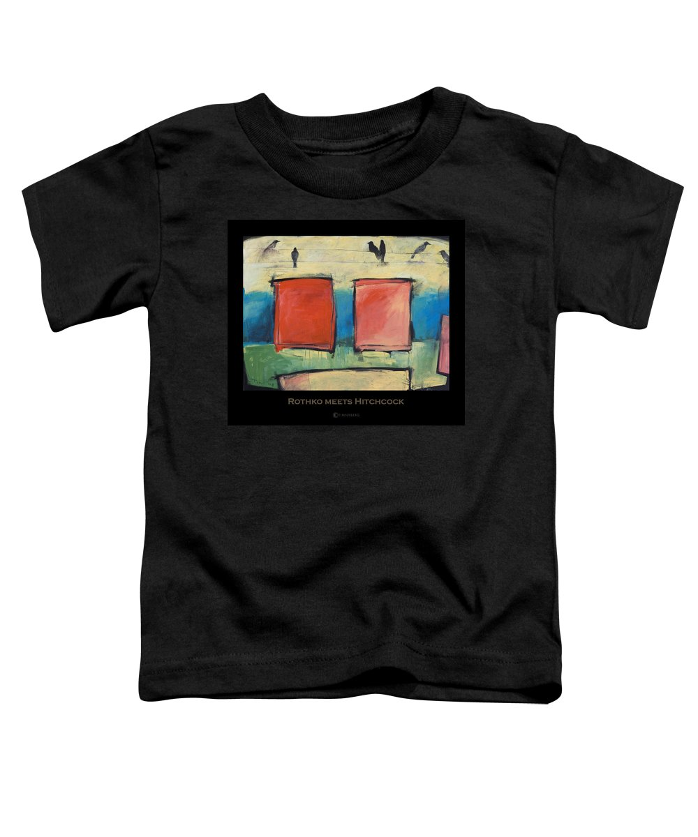 Rothko Toddler T-Shirt featuring the painting Rothko Meets Hitchcock - Poster by Tim Nyberg