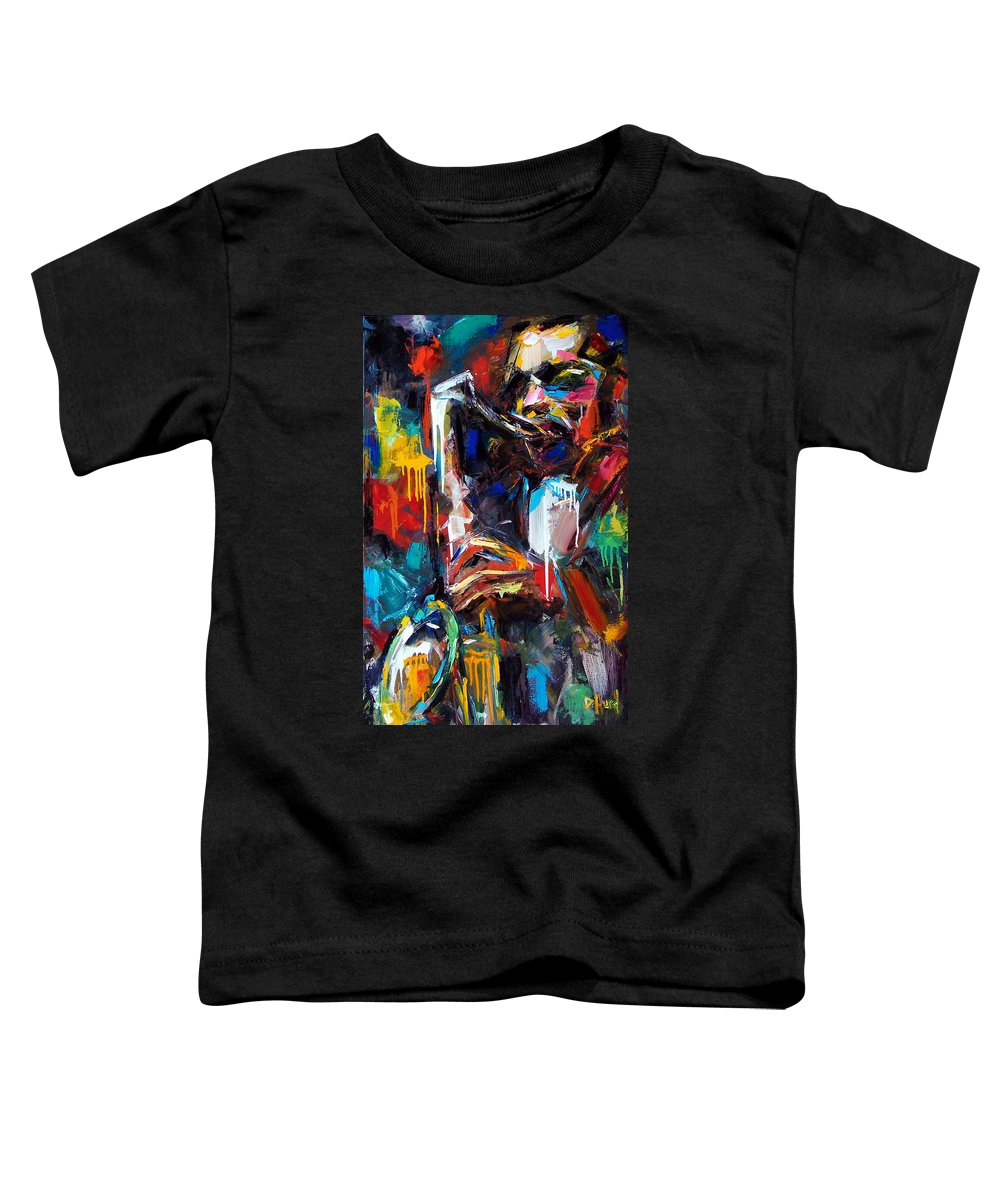 Painting Toddler T-Shirt featuring the painting Round Midnight by Debra Hurd