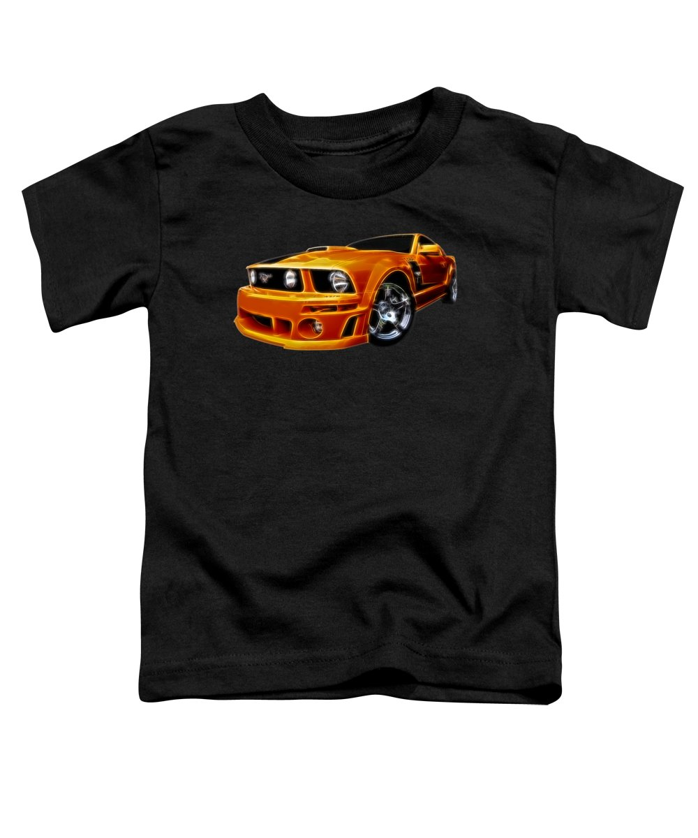 Mustang Toddler T-Shirt featuring the photograph Roush On Fire by Gill Billington