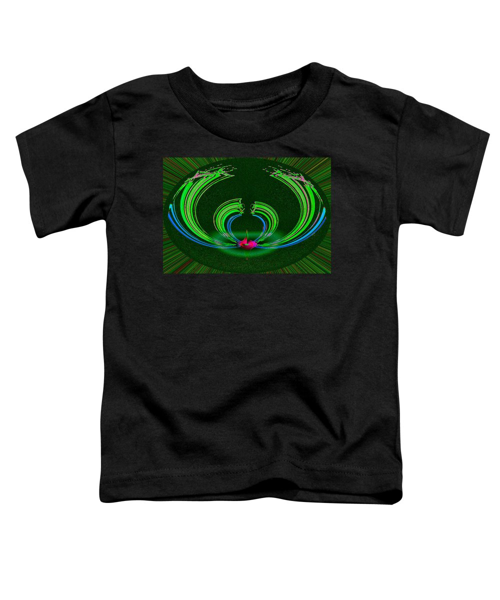 Ruby Toddler T-Shirt featuring the digital art Ruby Singularity In Emerald Sapphire Nest by Don Quackenbush