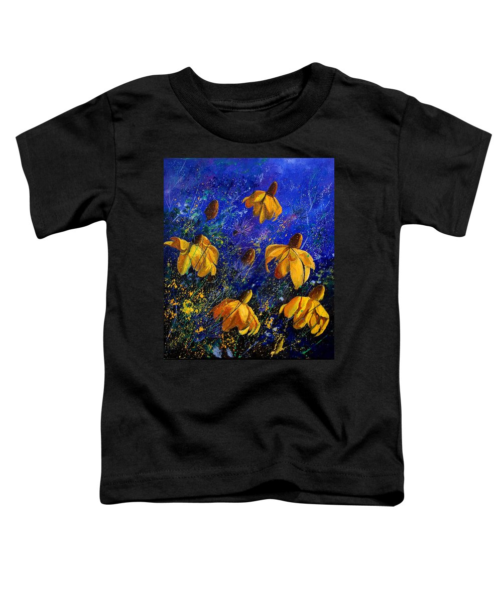Poppies Toddler T-Shirt featuring the painting Rudbeckia's by Pol Ledent