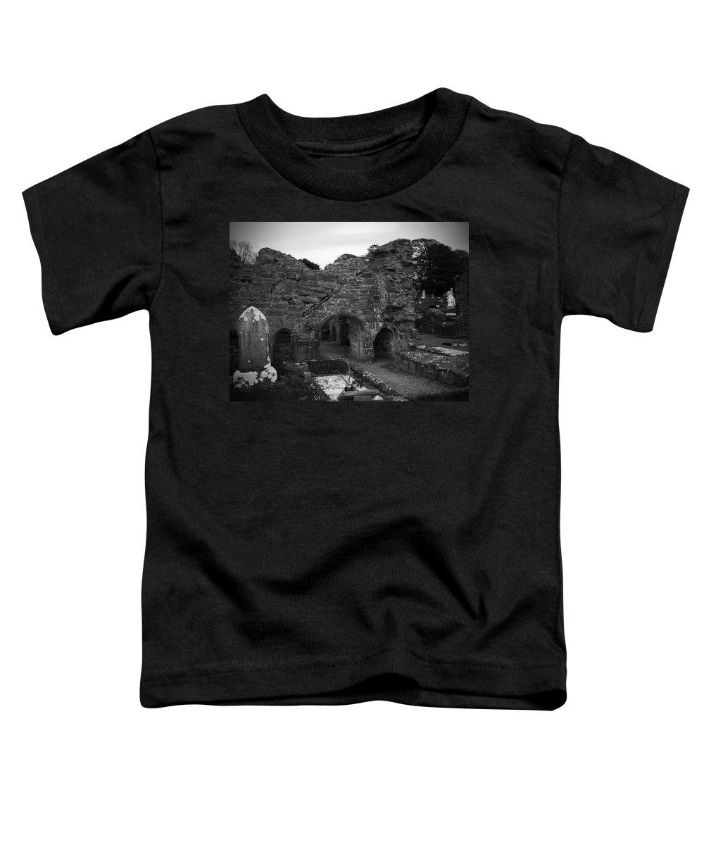 Irish Toddler T-Shirt featuring the photograph Ruins At Donegal Abbey Donegal Ireland by Teresa Mucha