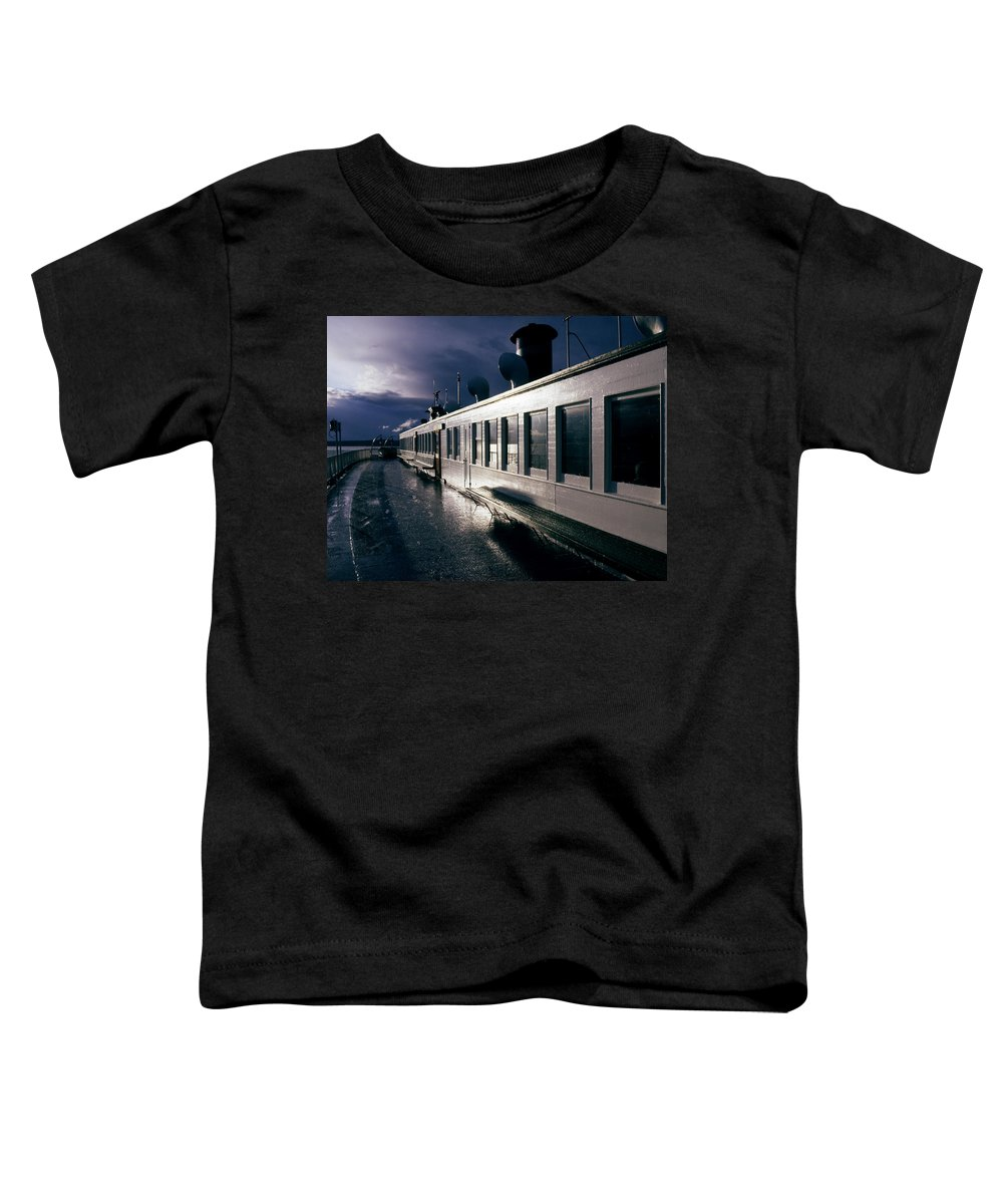Scenic Toddler T-Shirt featuring the photograph San Juan Islands Ferry by Lee Santa