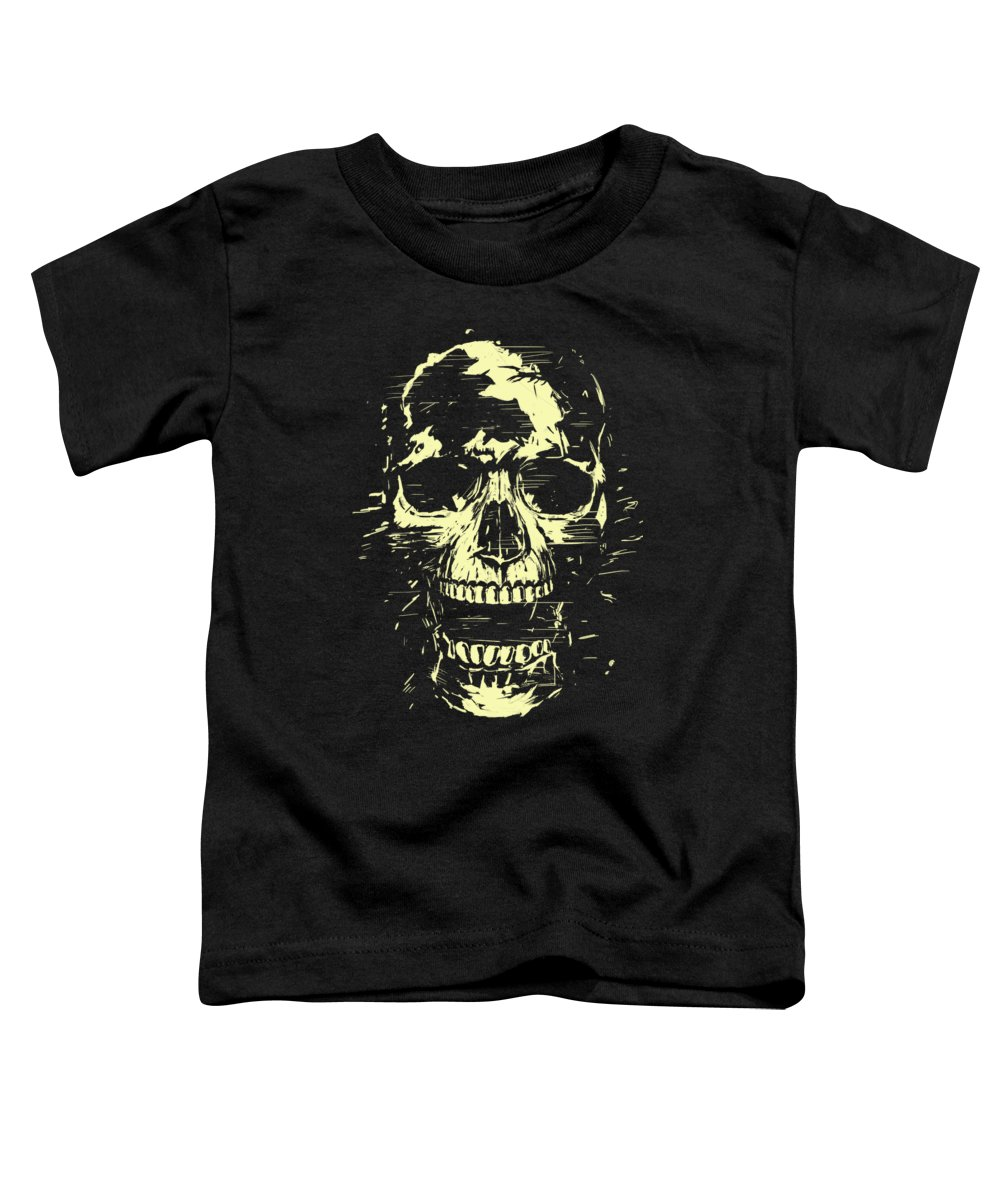 Skull Toddler T-Shirt featuring the mixed media Scream by Balazs Solti