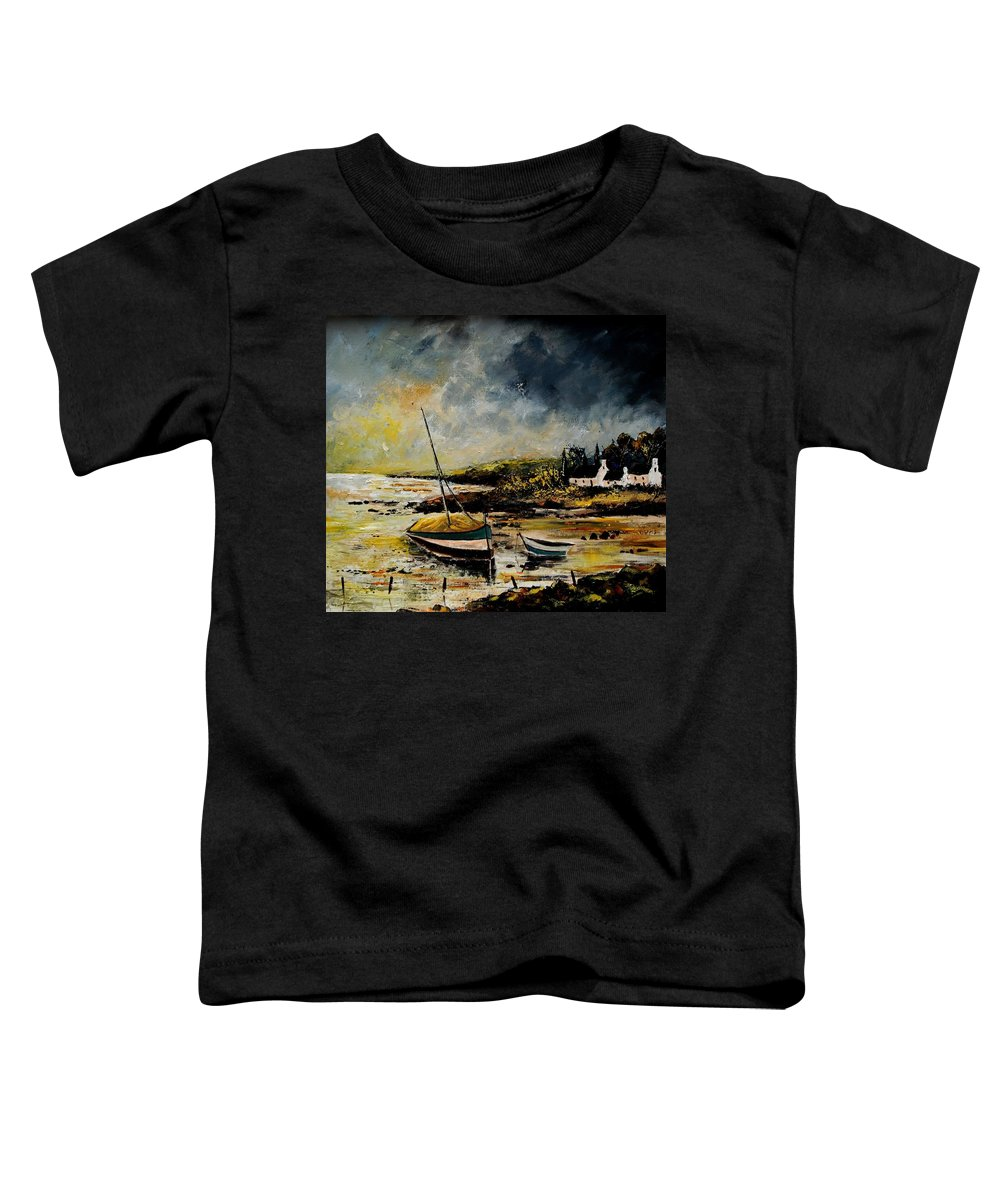 Sea Toddler T-Shirt featuring the painting Seascape 452654 by Pol Ledent