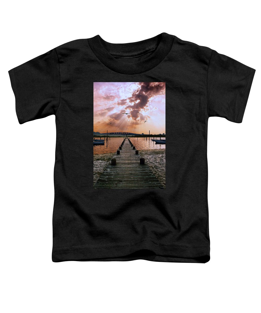 Seascape Toddler T-Shirt featuring the photograph Seaside by Steve Karol