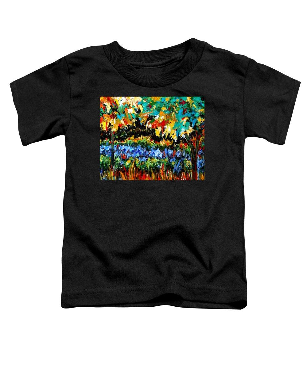 Landscape Toddler T-Shirt featuring the painting Secret Garden by Debra Hurd