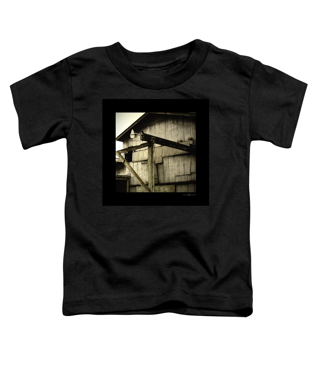 Corrugated Toddler T-Shirt featuring the photograph Security Light by Tim Nyberg