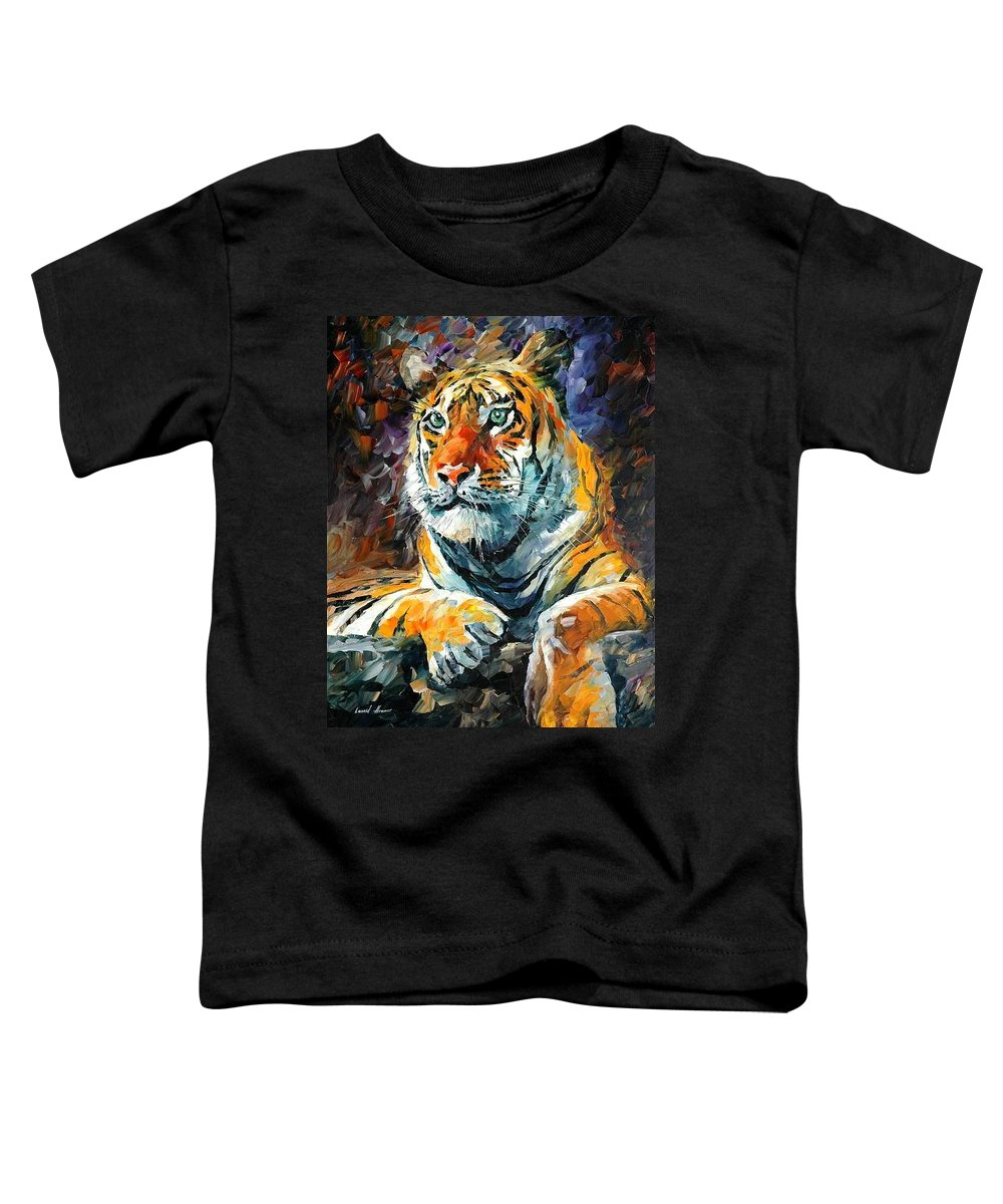 Painting Toddler T-Shirt featuring the painting Seibirian Tiger by Leonid Afremov