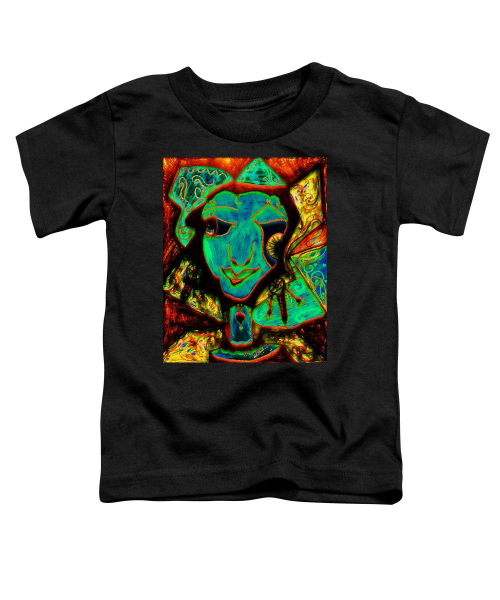 Fantasy Toddler T-Shirt featuring the painting Self Portrait by Natalie Holland