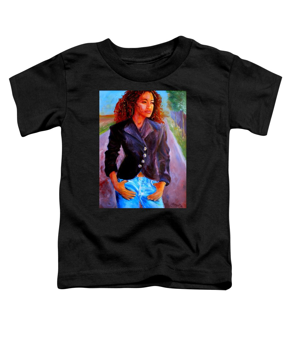 Acrylic Toddler T-Shirt featuring the painting Sharice by Jason Reinhardt