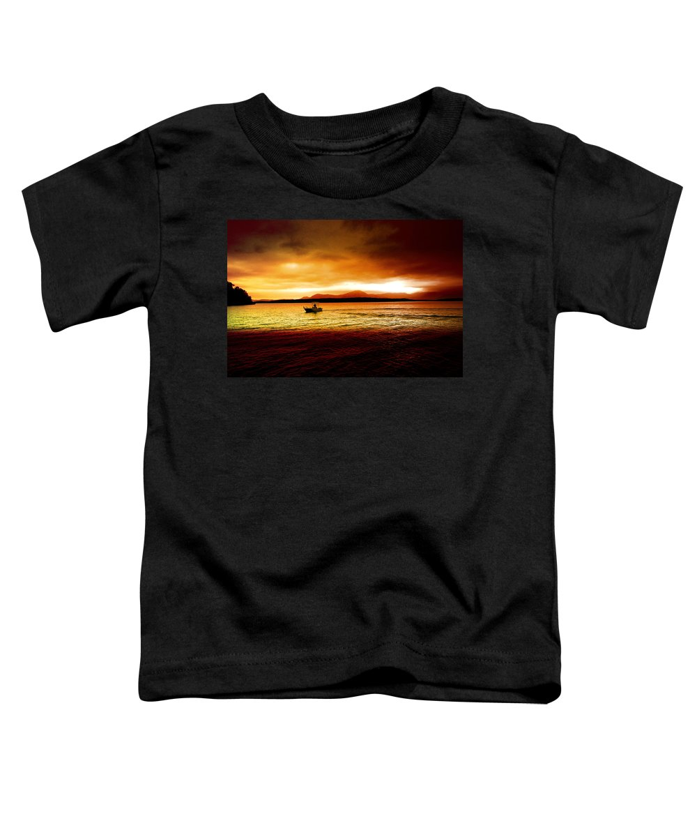 Landscape Toddler T-Shirt featuring the photograph Shores Of The Soul by Holly Kempe