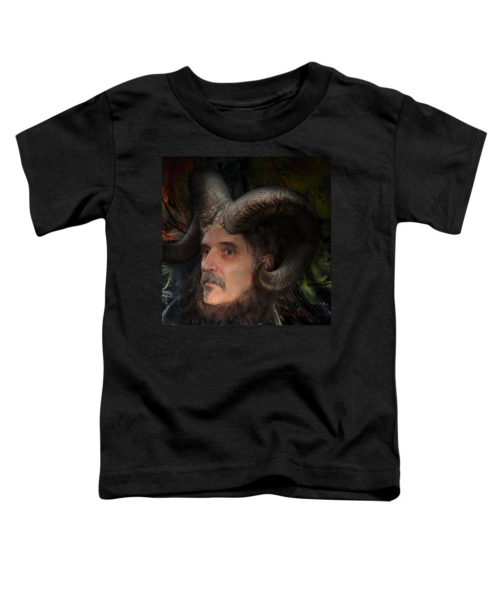 Surrealism Toddler T-Shirt featuring the digital art Silenus by Otto Rapp