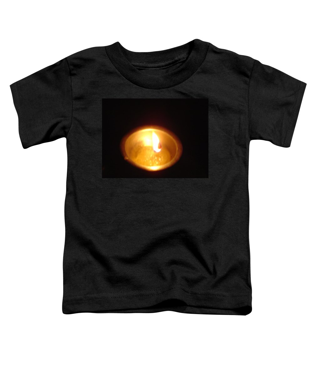 Indian Toddler T-Shirt featuring the photograph Silver Lamp by Usha Shantharam