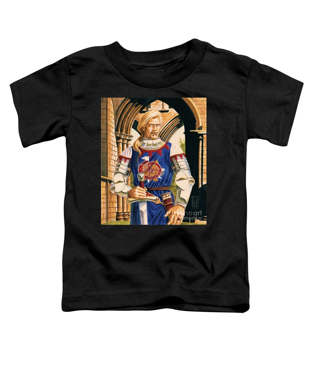 Swords Toddler T-Shirt featuring the painting Sir Dinadan by Melissa A Benson