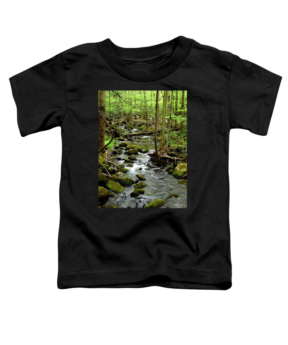 River Toddler T-Shirt featuring the photograph Smoky Mountain Stream 2 by Nancy Mueller