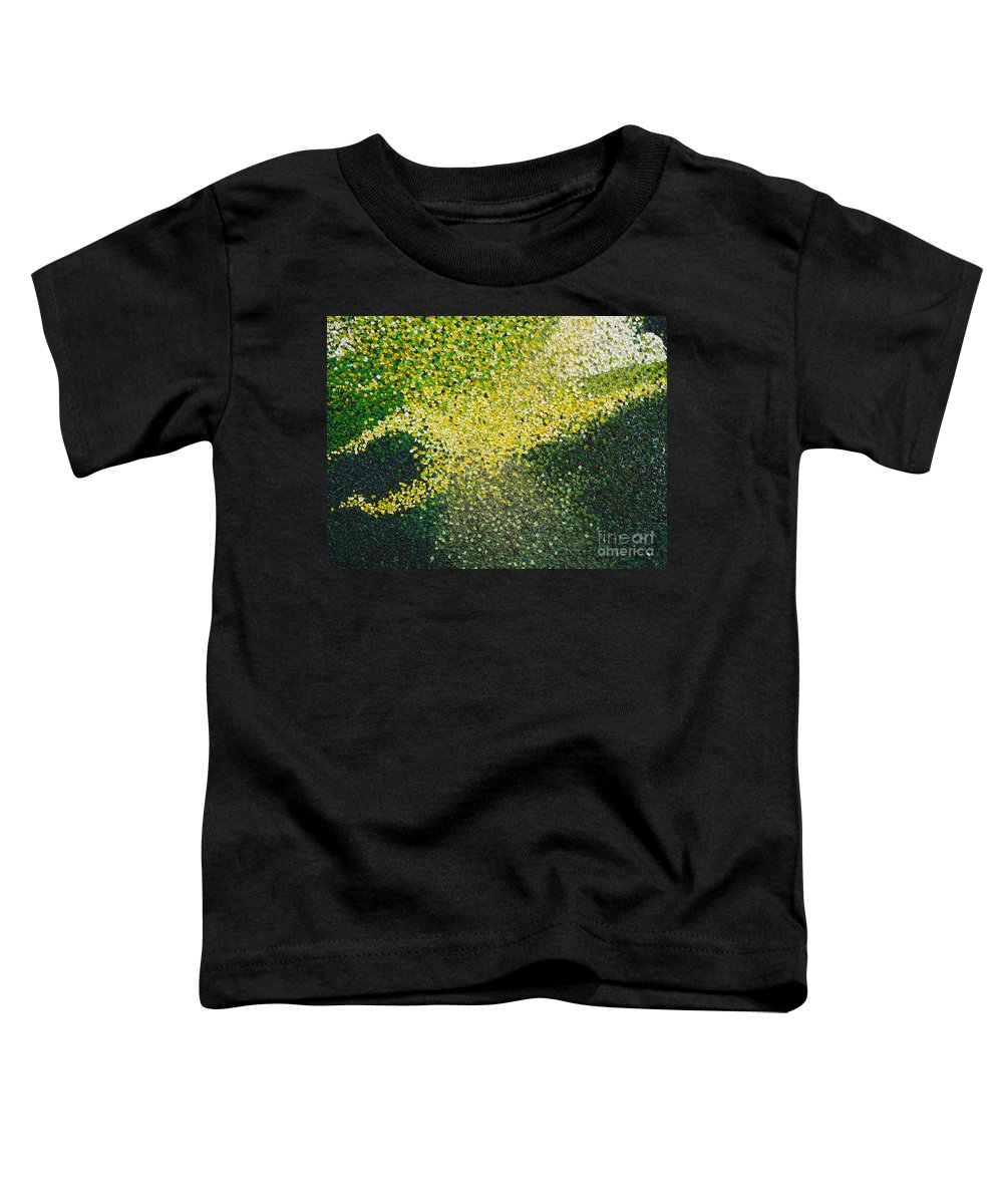 Abstract Toddler T-Shirt featuring the painting Soft Green Light by Dean Triolo
